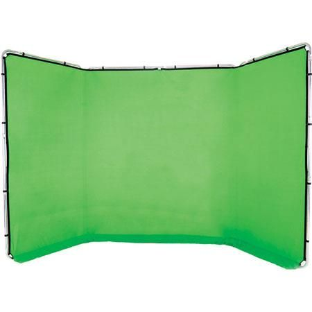 Lastolite Panoramic 13' Background, Chromakey Green - Fabric and Frame by Lastolite