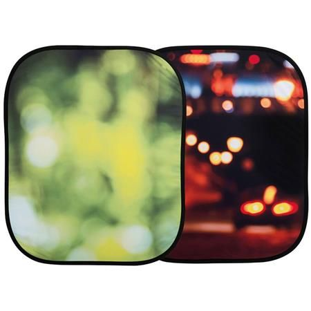 Lastolite 4x5' Out of Focus Collapsible Background, Summer Foliage/City Lights by Lastolite