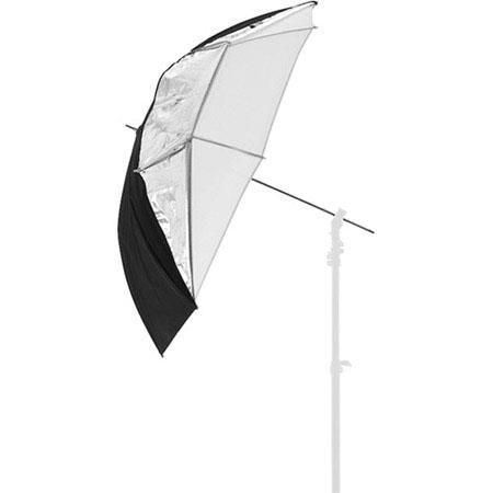 """Lastolite 28"""" Small All in One Umbrella with 8mm Shaft, Translucent, Silver/White by Lastolite"""