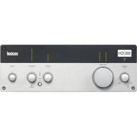 Lexicon  IO22 2x2 USB 2.0 Desktop Recording Studio, MIDI Input/Output, 24-bit Converters by Lexicon