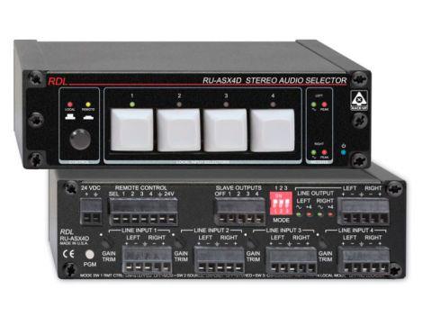RDL RU-ASX4D 4x1 Stereo Balanced Audio Switcher - Terminal Block by RDL