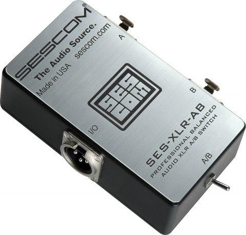 Sescom SES-XLR-AB Balanced Audio Pro Grade XLR A/B Passive Switch by Sescom