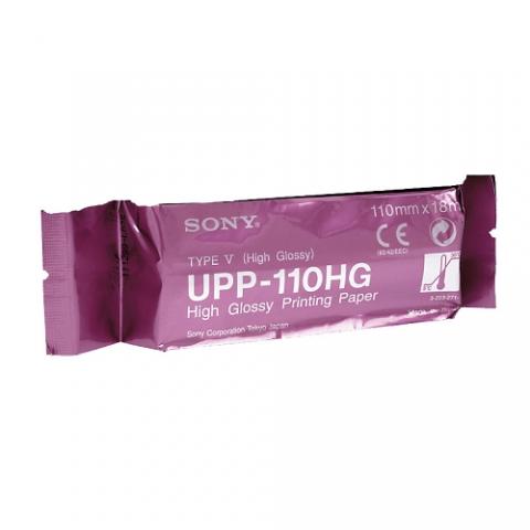 Sony UPP-110HG A6 width B&W High Glossy print media (type V) for use in UP-X898MD / D898MD / D898DC / 897MD / D897MD / D897 / 895 / D895 / 890 / D890 / 860 / D860 printers by Sony