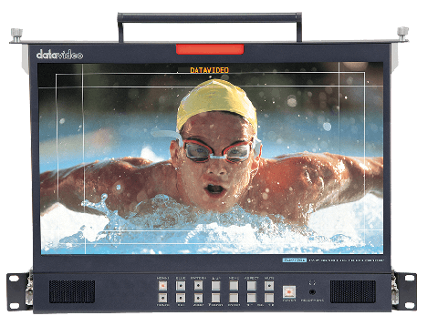"""Datavideo TLM-170LM 17.3"""" 3G-SDI FULL HD LCD Monitor with 1U Foldable Rackmount Tray Unit by Datavideo"""