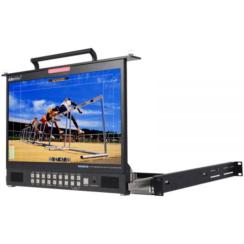 """Datavideo TLM-170PM 17.3"""" HD/SD TFT LCD 1U Foldable Rackmount Monitor by Datavideo"""