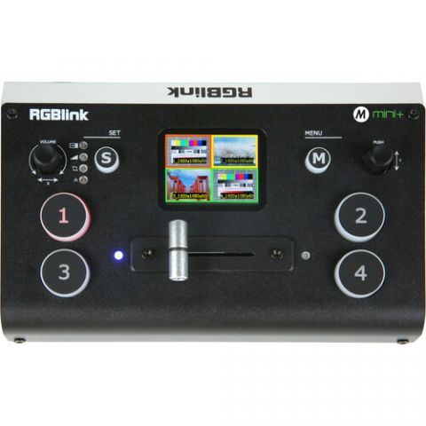 RGBlink Mini+ Switcher with 4 HDMI Inputs and Preview Monitor and FREE Carry Bag by RGBLink