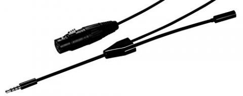 MXL MM-Cable-1 Female XLR to 3.5mm Male TRRS cable w/3.5mm Female headphone jack by Marshall Electronics