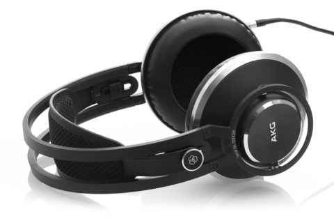 AKG Acoustics Master reference closed-back studio headphones, with custom 53mm drivers, 1.5 Tesla magnet systems, 3D-shaped slow-retention foam ear-cups, open-mesh headband. by AKG