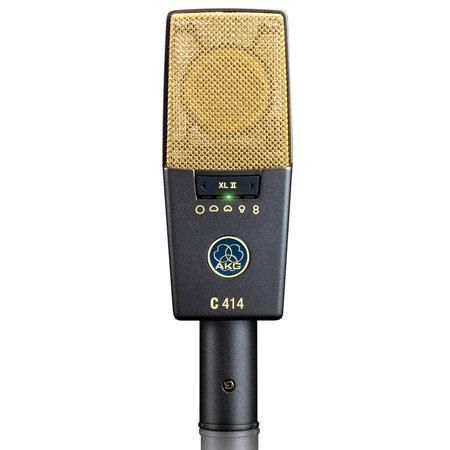 AKG Acoustics C 414 XL II/ST Large-Diaphragm 5-Pattern Condenser Microphone, Matched Pair by AKG