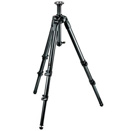"""Manfrotto 057 3-Section Carbon Fiber Tripod with Rapid Column, Max Height 61"""", Supports 39 lbs. by Manfrotto"""