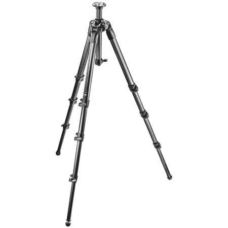 """Manfrotto 057 4-Section Carbon Fiber Tripod with Rapid Column, Max Height 80"""", Supports 39 lbs. by Manfrotto"""