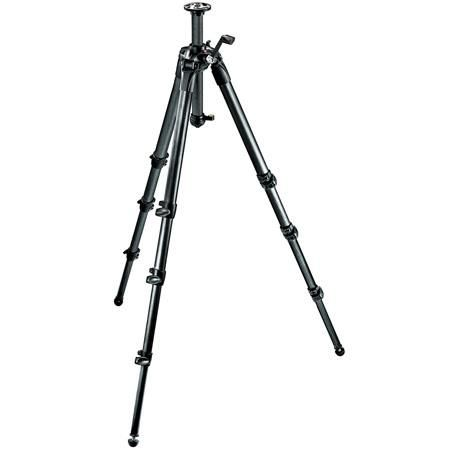 """Manfrotto 057 4-Section Carbon Fiber Tripod with Geared Column, Max Height 80"""", Supports 26 lbs. by Manfrotto"""