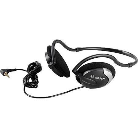 Bosch HDP-LWN Lightweight Neckband Headphone, 20Hz-20kHz (I 3dB) Audio Frequency Response, 32 Ohm Impedance, Stereo Jack Plug, Charcoal/Silver by Bosch
