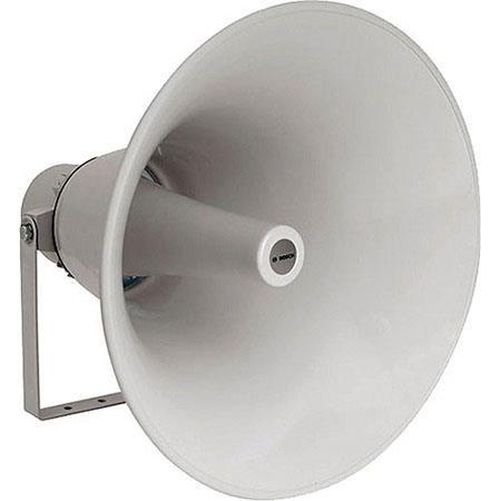 "Bosch LBC 3484/00 50W 20"" Horn Loudspeaker, Evac, 350Hz-4kHz Frequency Range, 200ohms Impedance, Light Gray by Bosch"
