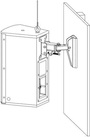 "Electro-Voice EVC-WB-BLK Wall bracket EVC 8"",12"",15"" black by Electro-Voice"
