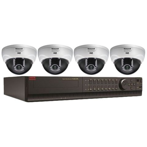 Honeywell Surveillance Camera Combo Pack (PAL) (4 x CADC700PTV Camera, 1 x CADVR-4016D DVR) by Honeywell