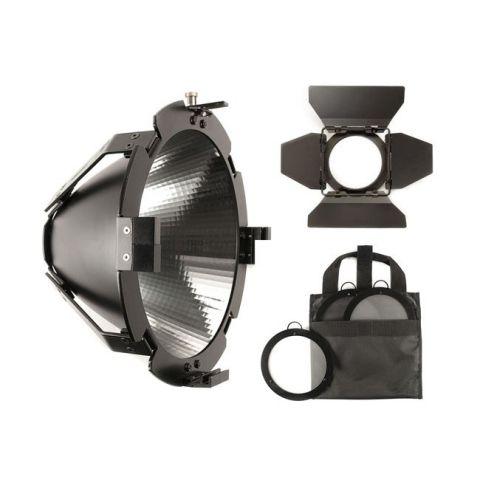 Hive Lighting C-SSRK Super Spot Reflector Kit (Super Spot Reflector Attachment, 9.5'' Barndoors and 3 Lens Set (Medium, Wide, Super Wide) with Bag) by Hive Lighting