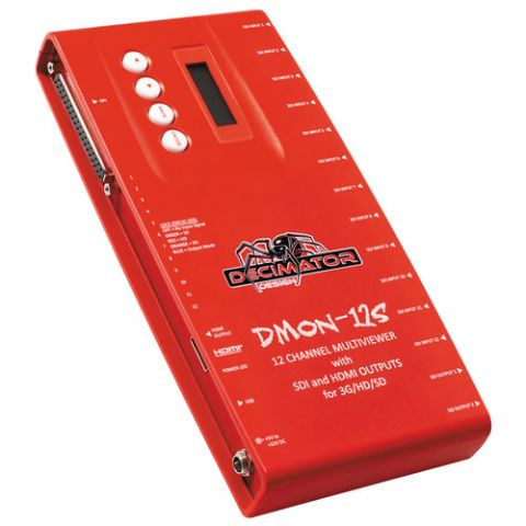 DECIMATOR DMON-12S 12-Channel Multi-Viewer with SDI & HDMI Outputs by Decimator