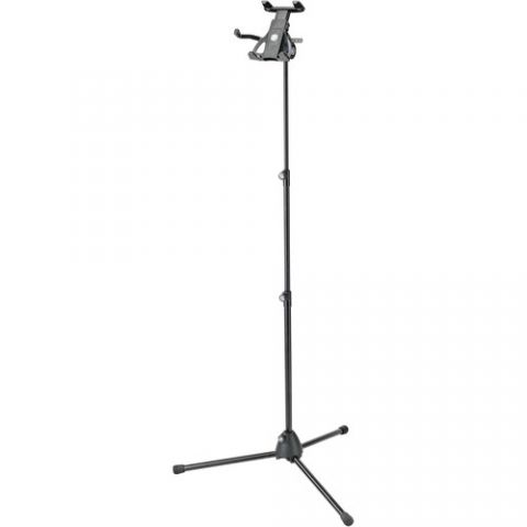 """K&M 19776 Universal Tablet Holder with Microphone Stand (Euro 3/8"""" Thread) by KM"""