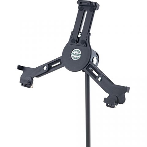 """K&M 19790 iPad/Tablet PC Stand Holder (5/8"""", Black) by KM"""