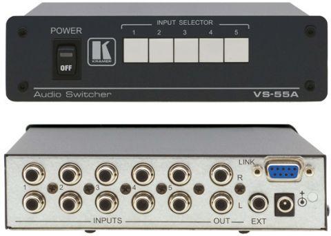 Kramer VS-55A 5x1 Stereo Audio Switcher by Kramer