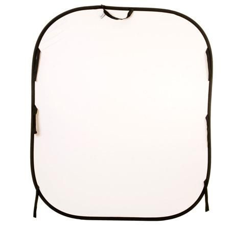 Lastolite 5x6' Reversible Collapsible Background, White/Mid Gray by Lastolite