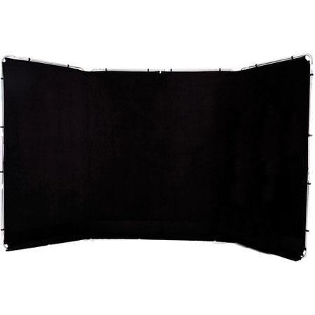 Lastolite Panoramic 4m (13') Background, Black - Fabric and Frame by Lastolite