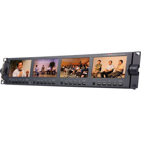 """Datavideo TLM-434H 4 x 4.3"""" HD/SD TFT LCD Monitor by Datavideo"""
