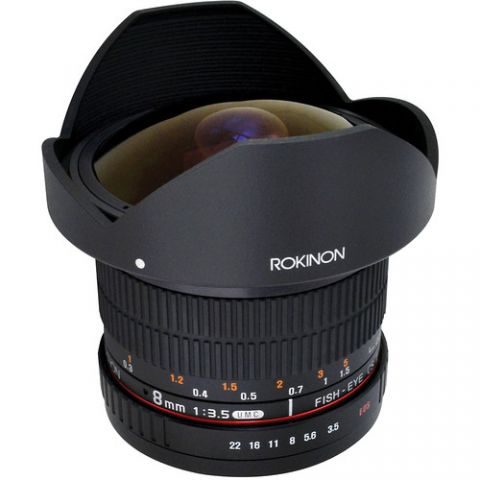 Rokinon 8mm f/3.5 HD Fisheye Lens with Removable Hood for Canon  by Rokinon