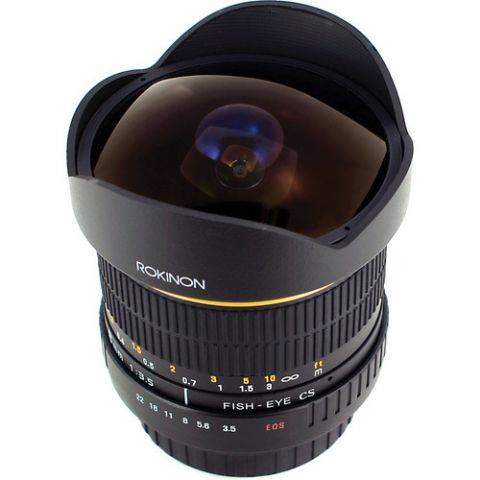 Rokinon 8mm Ultra Wide Angle f/3.5 Fisheye Lens for Canon EF Mount  by Rokinon