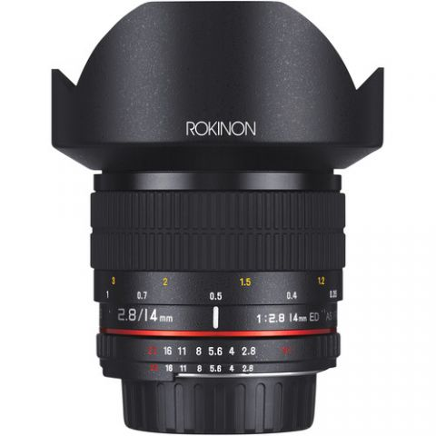Rokinon 14mm f/2.8 IF ED UMC Lens For Canon EF with AE Chip  by Rokinon