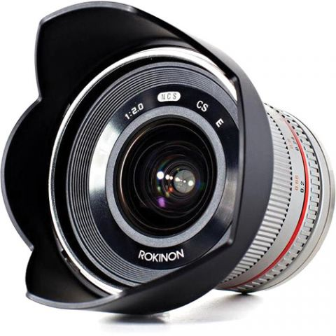 Rokinon 12mm f/2.0 NCS CS Lens for Micro Four Thirds Mount (Silver)  by Rokinon