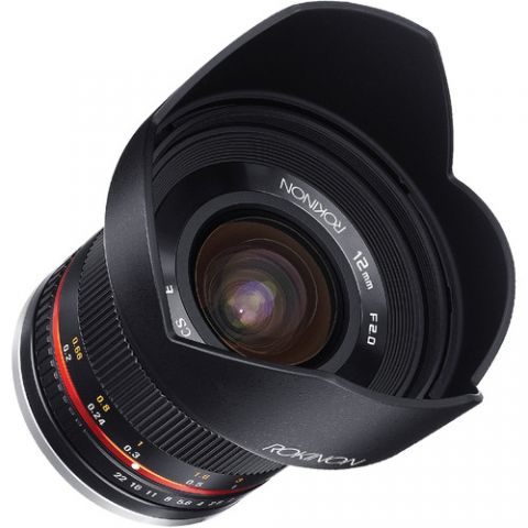Rokinon 12mm f/2.0 NCS CS Lens for Fujifilm X Mount (Black)  by Rokinon