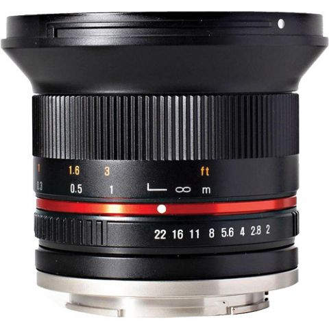 Rokinon 12mm f/2.0 NCS CS Lens for Canon EF-M Mount (Black)  by Rokinon