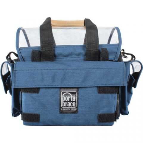 Porta Brace AO-1.5XH Audio Organizer with AH-2H Harness Kit (Blue)  by Porta Brace