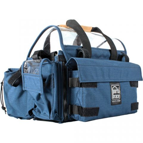 Porta Brace AO-2XH Audio Organizer with AH-2H Harness Kit (Blue)  by Porta Brace