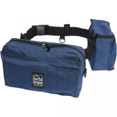 Porta Brace BP-2 Waist Belt Production Pack - for Camcorder Batteries, Tapes and Accessories (Blue)  by Porta Brace