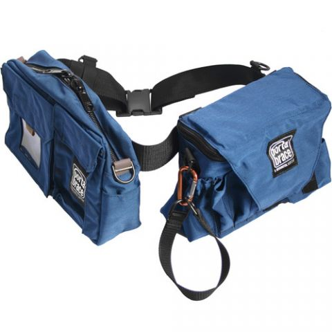Porta Brace BP-3 Durable Cordura pouches worn on nylon belt (3 pouches) by Porta Brace
