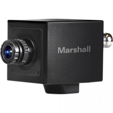 Marshall Electronics  CV505-MB 2.5MP HD/3G-SDI Compact Broadcast Compatible Camera with Interchangeable 3.7mm Lens (M12 Lens Mount, Power/OSD Joystick/Audio Input)   by Marshall Electronics