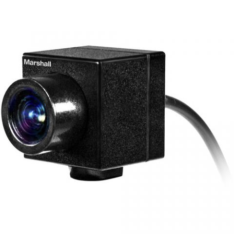 Marshall Electronics  CV502-WPMB Full HD Weatherproof Mini Broadcast Camera with 3.7mm Lens   by Marshall Electronics