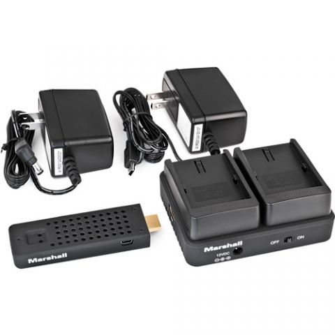 Marshall Electronics  WP-2C Wireless HDMI Transmitter Receiver System (Dual LP-E6)   by Marshall Electronics