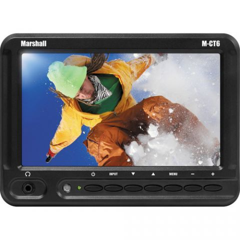"""Marshall Electronics  M-CT6 6.2"""" Widescreen Camera-Top Field LCD with AA Battery Plate   by Marshall Electronics"""