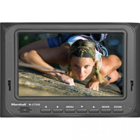 """Marshall Electronics  M-CT508 5"""" On-Camera Monitor with LP-E6 Battery Plate   by Marshall Electronics"""