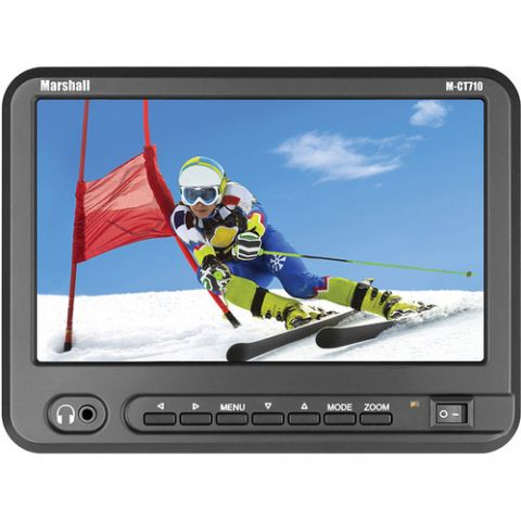 """Marshall Electronics  M-CT710 7"""" Portable Camera-Top High Resolution Monitor with Canon LP-E6 Plate/Battery/Charger   by Marshall Electronics"""