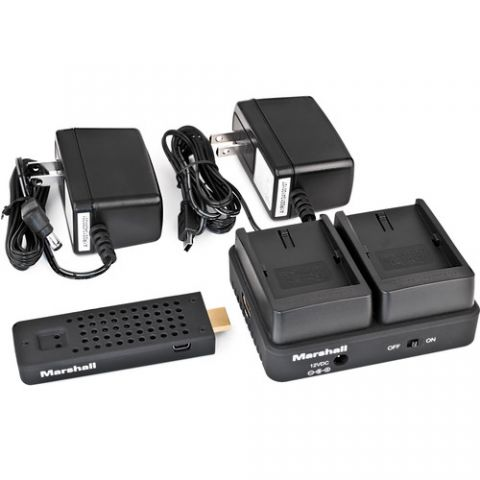 Marshall Electronics  WP-2S Wireless HDMI Transmitter Receiver System (Single NPF970)   by Marshall Electronics