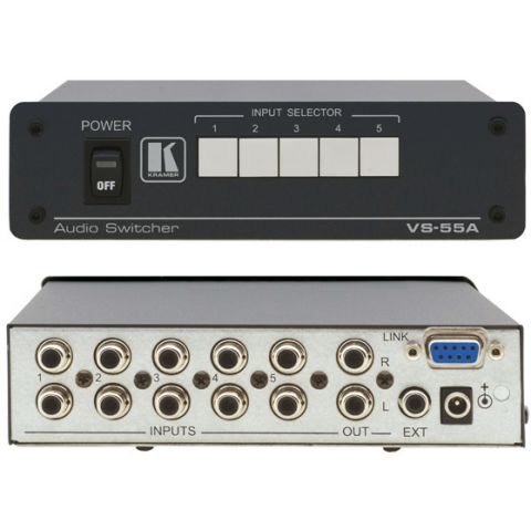 Kramer VS-55A 5x1 Stereo Audio Switcher by Kramer