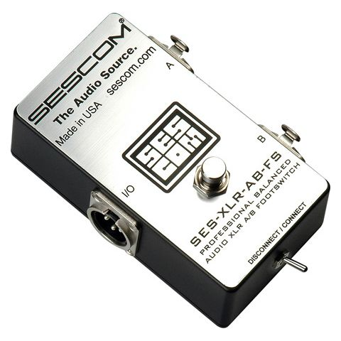 Sescom SES-XLR-AB-FS Balanced XLR A/B Passive Foot Switch with Disconnect/Mute by Sescom