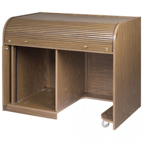 Chief Walnut Elite Roll Top Desk with Seating Cutout by Chief
