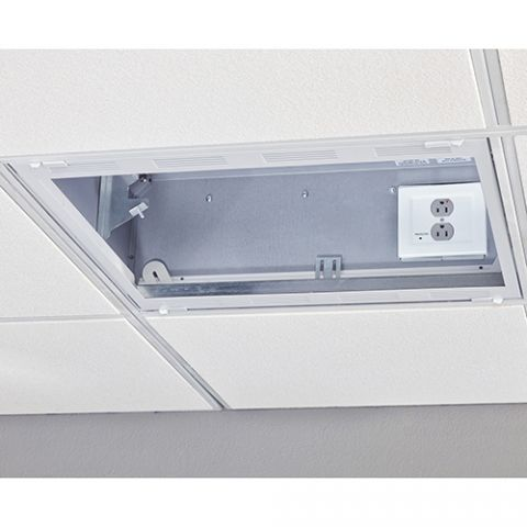 Chief 2' x 2' Plenum Rated Storage Box with 2-Gang Filter & Surge by Chief