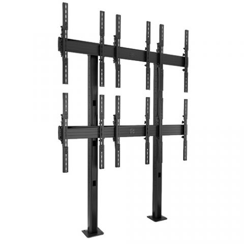 Chief FUSION'Ñ¢ 3 x 2 Portrait Micro-Adjustable Large Bolt-Down Freestanding Video Wall by Chief